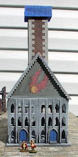 A little 15mm Mordheim WIP Temple+1