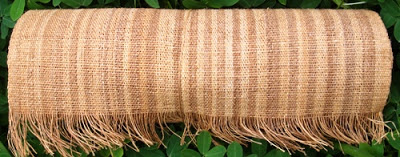 Photo: Yaboi bark fabric is tightly handwoven and strong