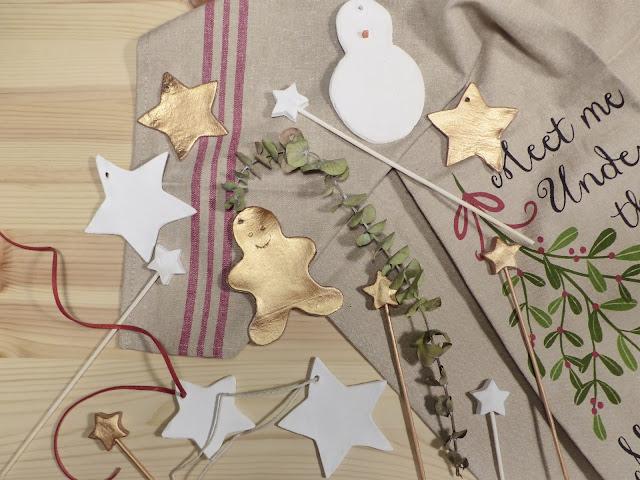 DIY Adornos de arcilla Navidad