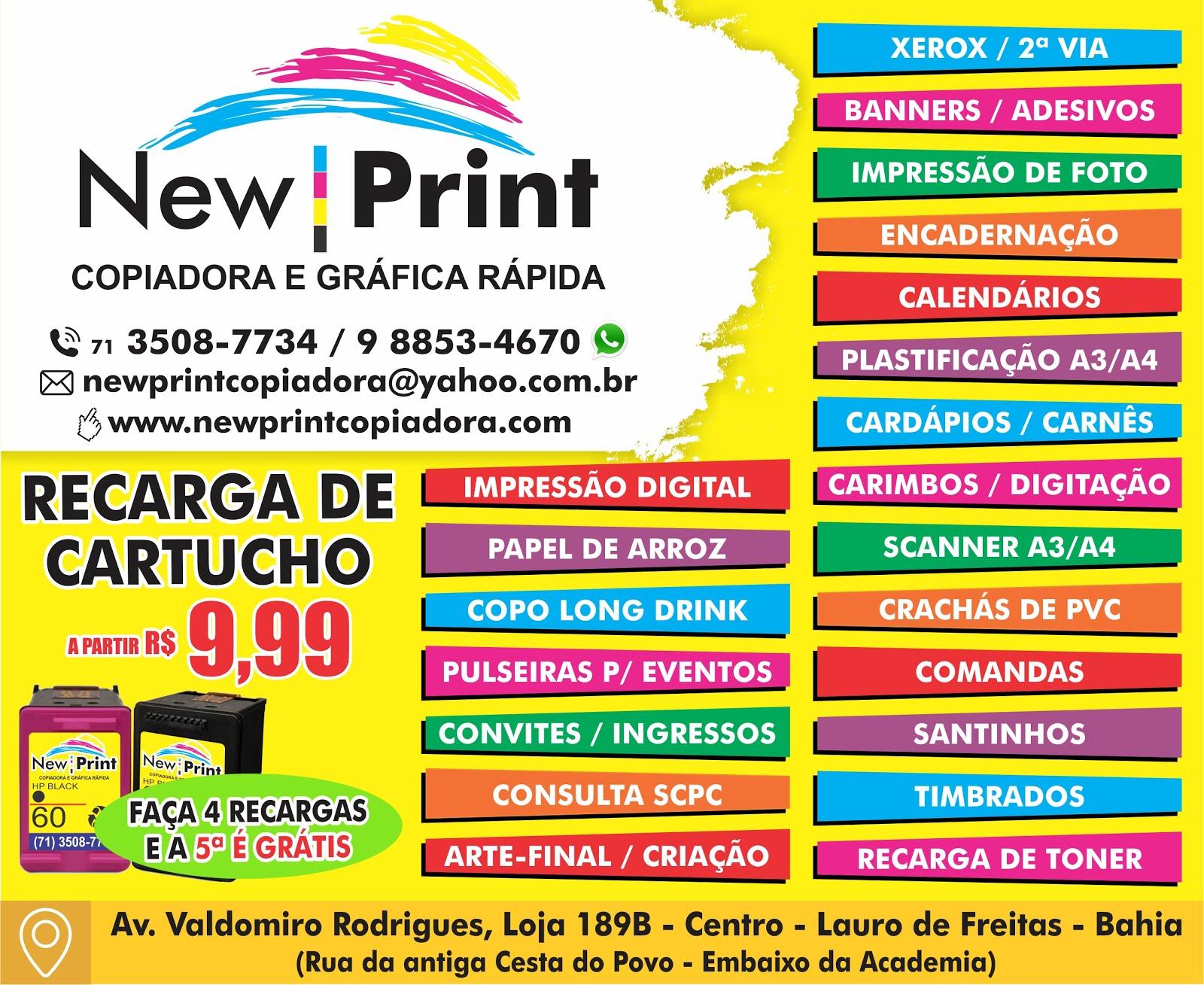 NEW PRINT COPIADORA GRÁFICA RÁPIDA EM LAURO DE FREITAS