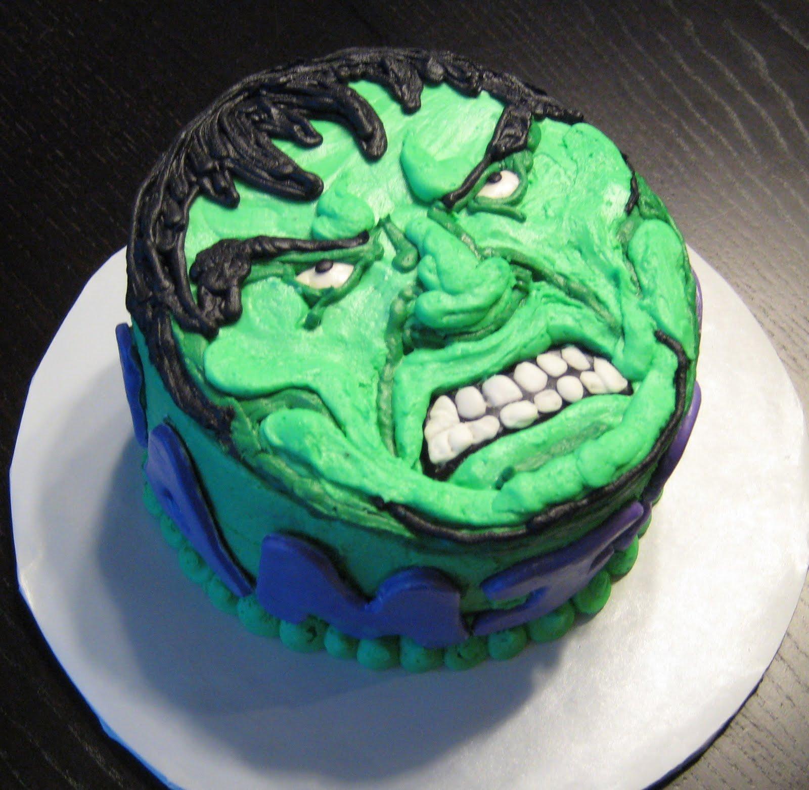 Custom Cakes by Julie: Incredible Hulk Cake