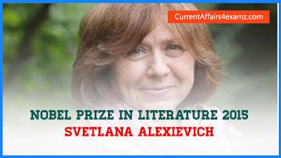 Nobel Prize Literature 2015