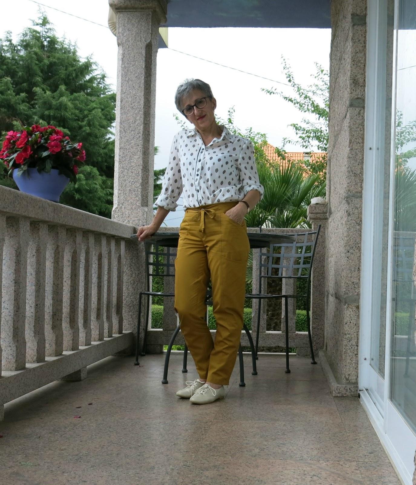 tutorial pantalón y blusa camisera