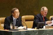 """""""el agua es un derecho humano, pero no siempre puede ser gratuito. explica el Secretario General"""