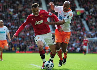 Berbatov Man Utd vs Blackpool Barclays Premier League