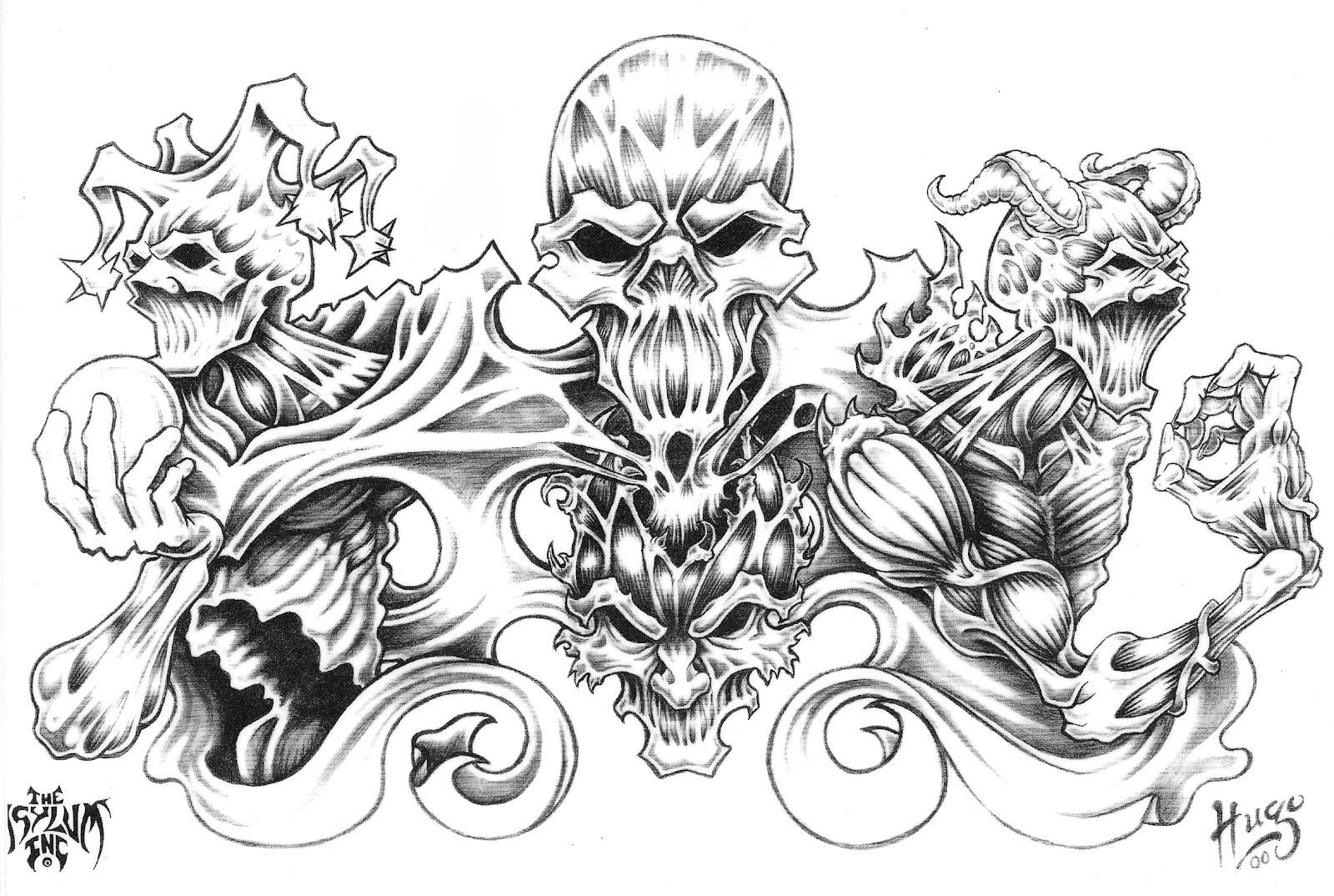 Skull Half Sleeve Tattoo Designs For Men 1080p