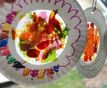 Fall Nature Suncatchers with Leaves and Flowers
