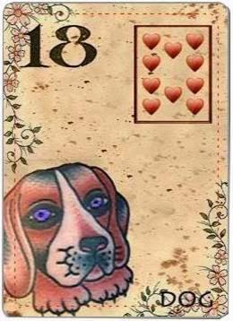 carta de lenormand 18 perro