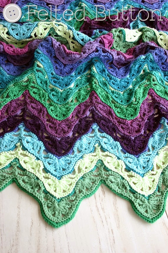 Felted Button - Colorful Crochet Patterns: Brighton Blanket Free ...