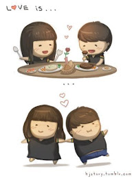 Love is...Eat and fat together ♥