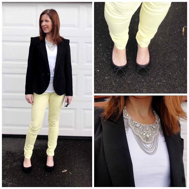 BWD4+Collage Yellow Jeans from Black White Denim   6 Different Ways