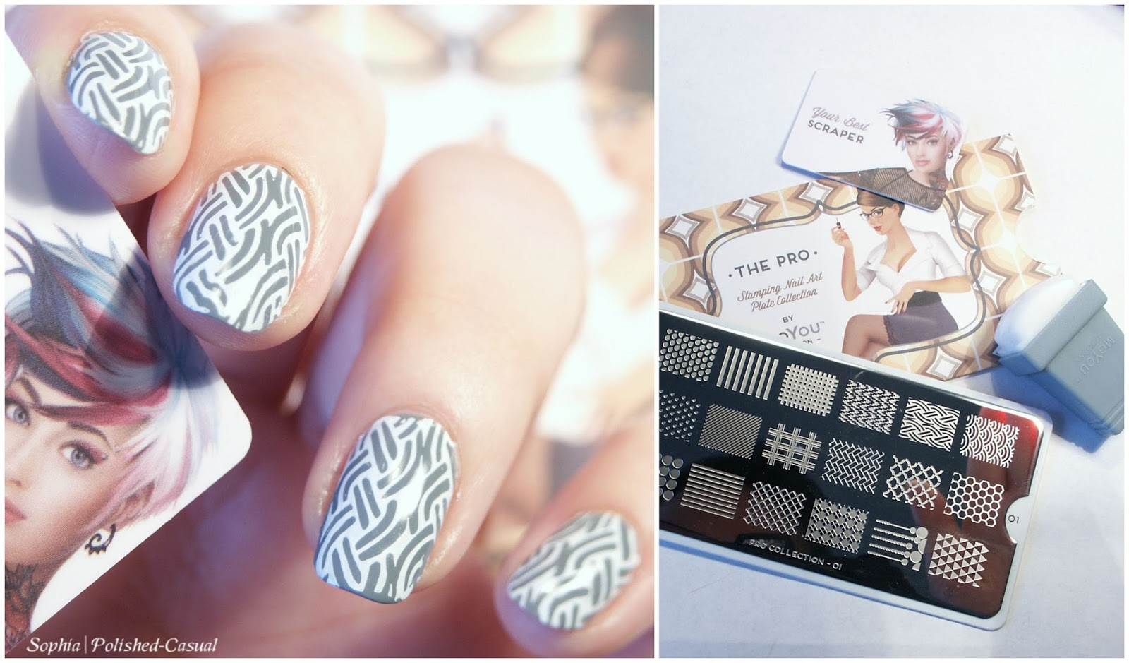 Simple Stamping with MoYou Pro Collection Plate 01
