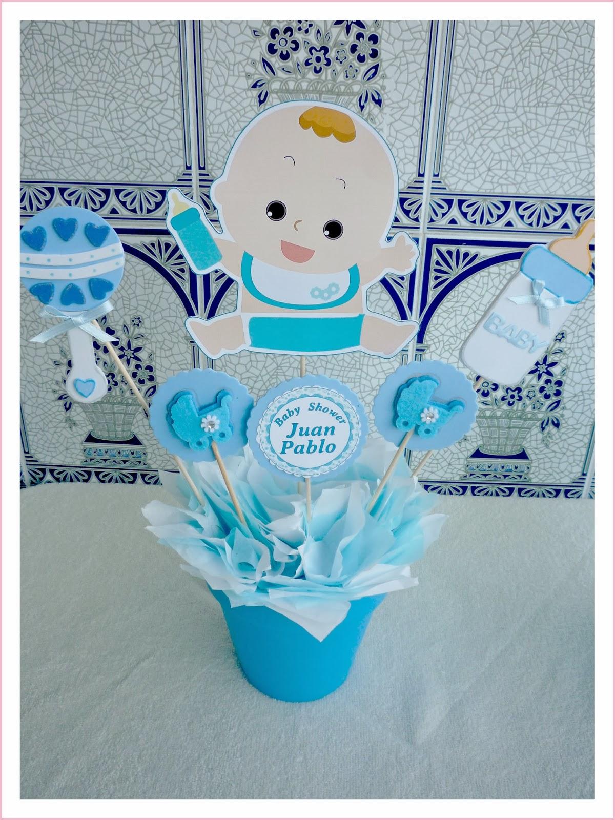 Centro de mesa de goma eva para baby shower imagui - Mesa baby shower ...