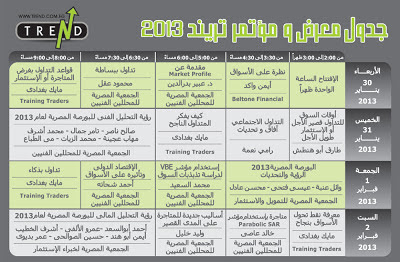 The 7th Financial Markets Exhibition & Conference 30 January - 2 February 2013 Cairo International Convention and Exhibition Center - Egypt