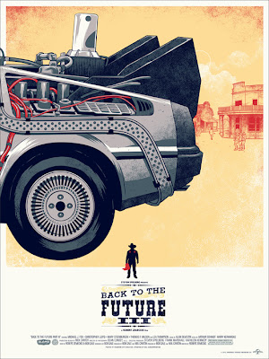 Back to the Future Trilogy Screen Print Set by Phantom City Creative - Back to the Future III