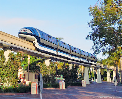 Mandy Monorail Disneyland resort esplanade Downtown Disney