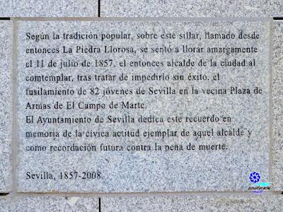 Sevilla - Lápida conmemorativa de la Piedra Llorosa