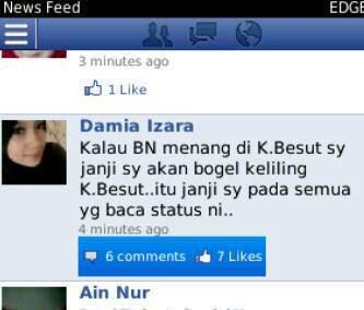 Janji Seorang Gadis Bogel jika Umno Menang Di Kuala Besut