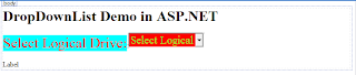 DropDownlist Binding to LogicalDrives in asp.net