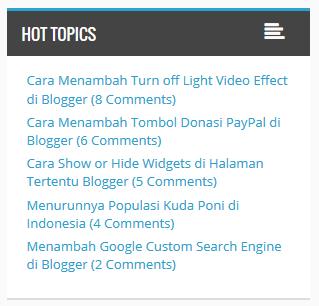 Cara Menampilkan Most Commented Post di Blogger