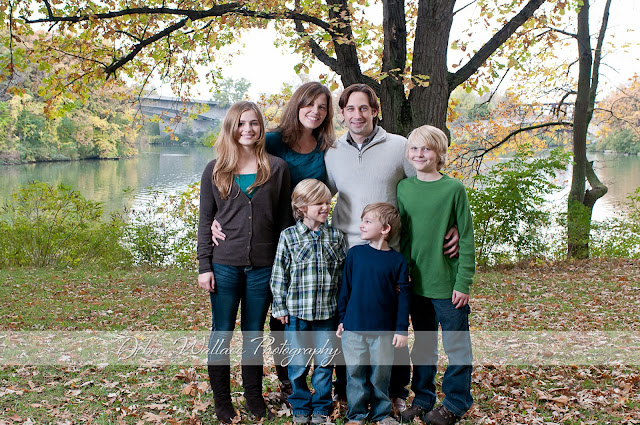 genesee valley park fall family photos bridge fall colors canal