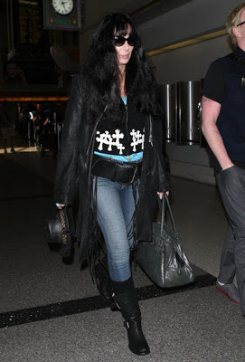 Cher at LA's famous airport