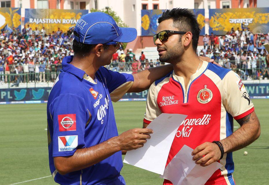 Rahul-Dravid-Virat-Kohli-RR-vs-RCB-IPL-2013