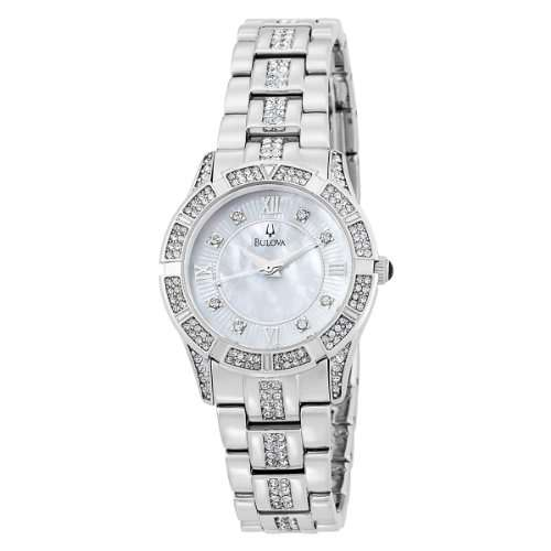 Bulova Women's 96L116 Swarovski Crystal Bracelet Mother of Pearl Dial Watch