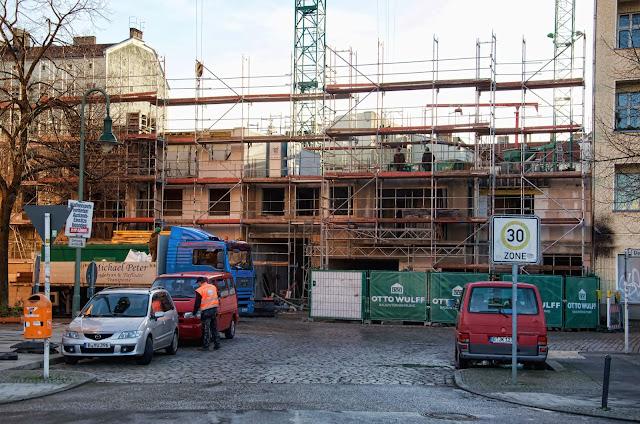 Baustelle Wohnhaus, Dolziger Straße / Eldenaer Straße, 10247 Berlin, 07.01.2014