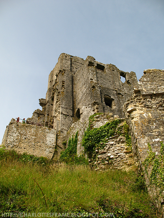 Corfe Castle wall
