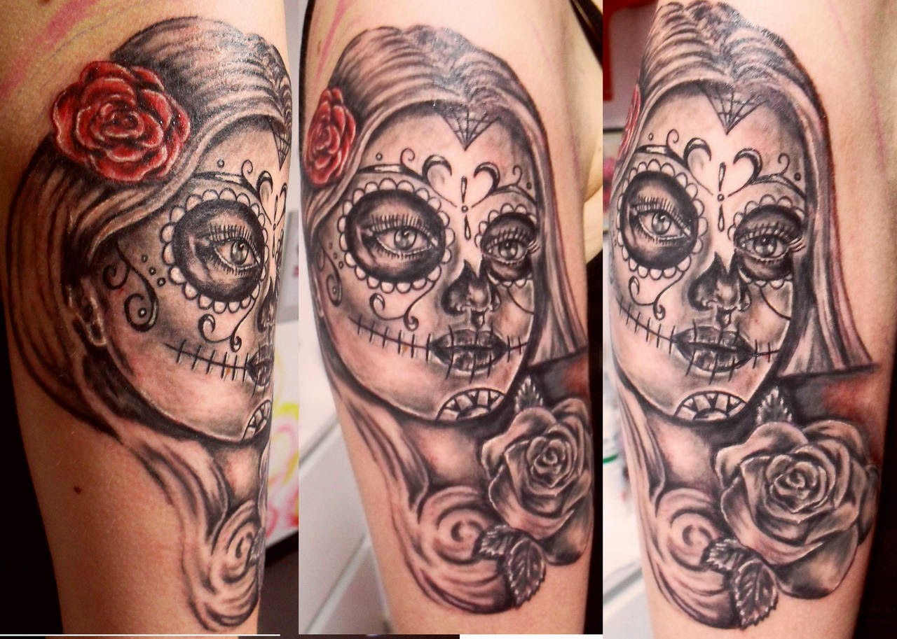 Beautiful Catrina Tattoos Design