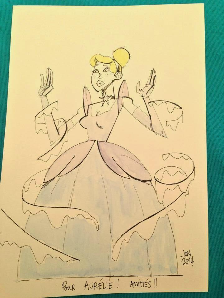 jonathan jon lankry 2D artist animation comic book animated cinderella disney classic commission original