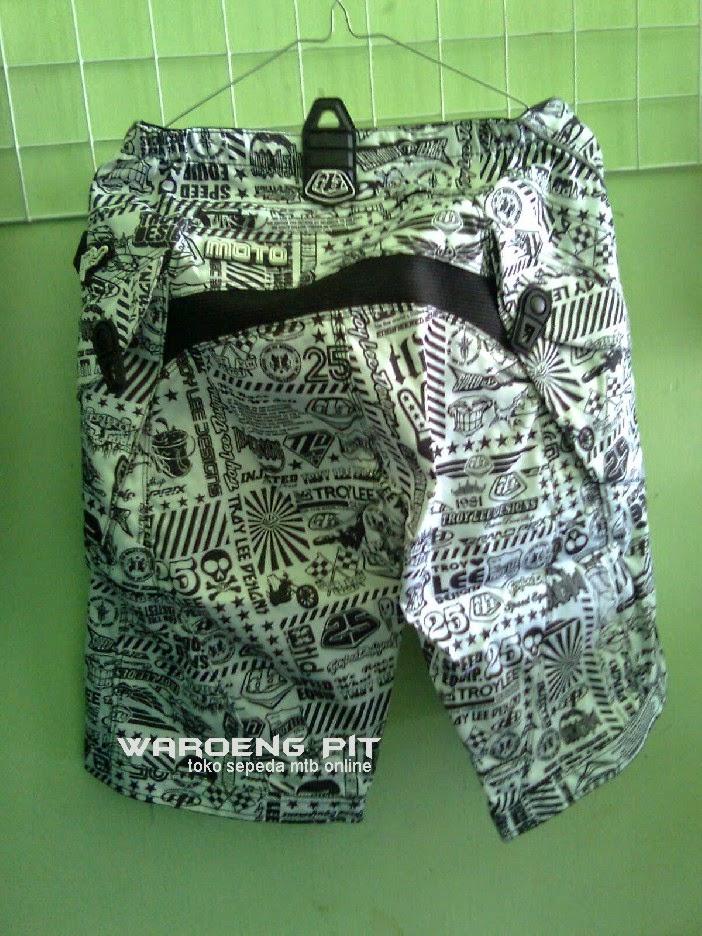 Jual Celana Original Orisinil Orisinal TLD Asli zebra lorek- lorek hitam putih muda Sepeda Mtb Gunung Mountain Bike 2