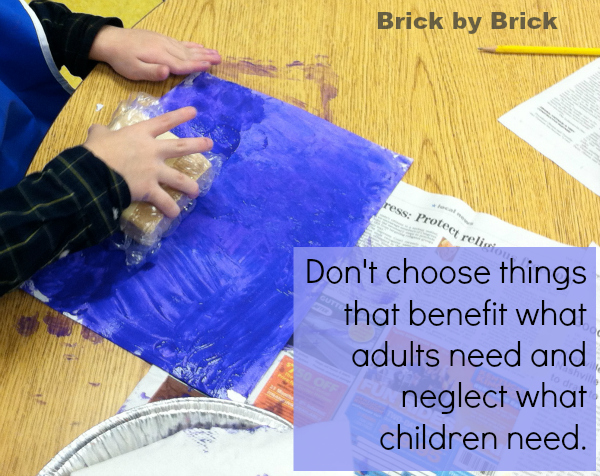 choose what children need (Brick by Brick)