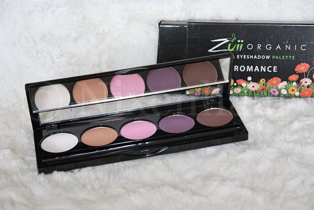 Zuii Organic Eyeshadow Palette Romance.