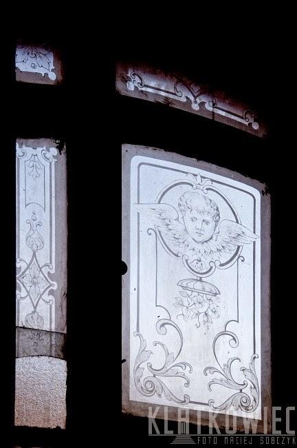 Zgorzelec. Miasto witraży. Witraż zachowany w przedwojennej kamienicy.
