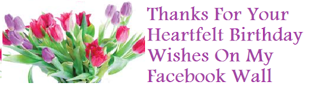 Birthday Thank You Image for Facebook