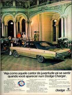 propaganda Dodge Charger Chrysler - 1972, brazilian advertising cars in the 70s; os anos 70; história da década de 70; Brazil in the 70s; propaganda carros anos 70; Oswaldo Hernandez;.
