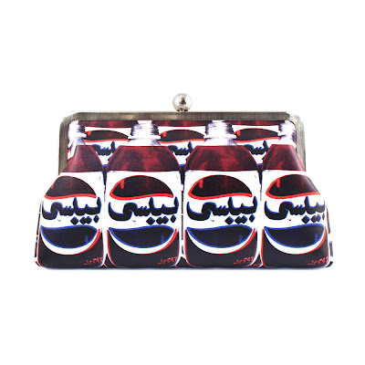 Pepsi Arabic pop art clutch from Beirut's Sarah's Bag