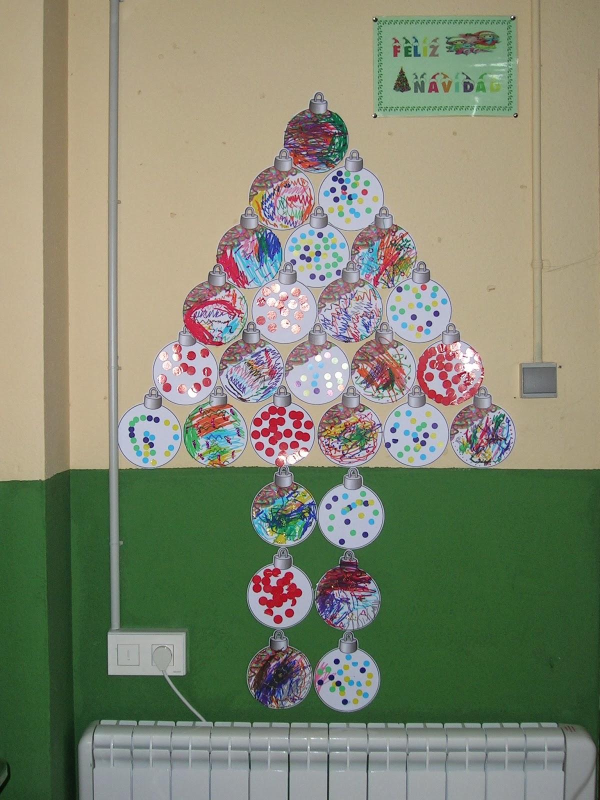 Trabajando en educaci n infantil rboles de navidad 2 - Bolas de navidad para ninos ...