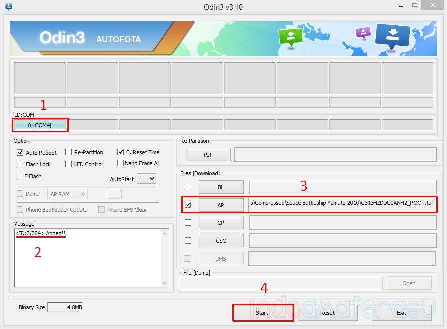 Memasang custom Kernel Samsung Galaxy V dengan Odin3 v3.10