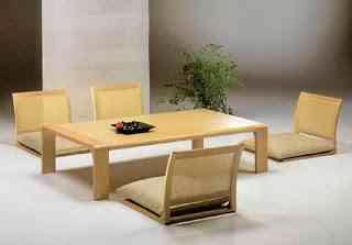 meja makan dan kursi jepang