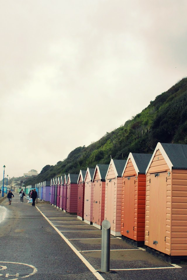 Bournemouth, beach huts, rainbow, photography, beach