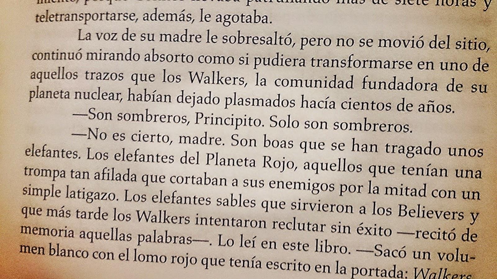 Fragmento de Principito debe morir de Carmen Moreno. Literatura ciencia ficción.