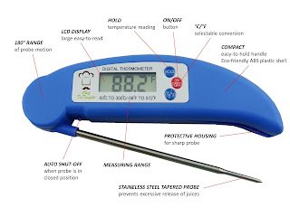 digital cooking thermometer by Chef DeTemple