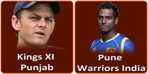 किंग्स एलेवन पंजाब बनाम पुणे वॉरियर्स इंडिया 21 अप्रैल 2013 को है।