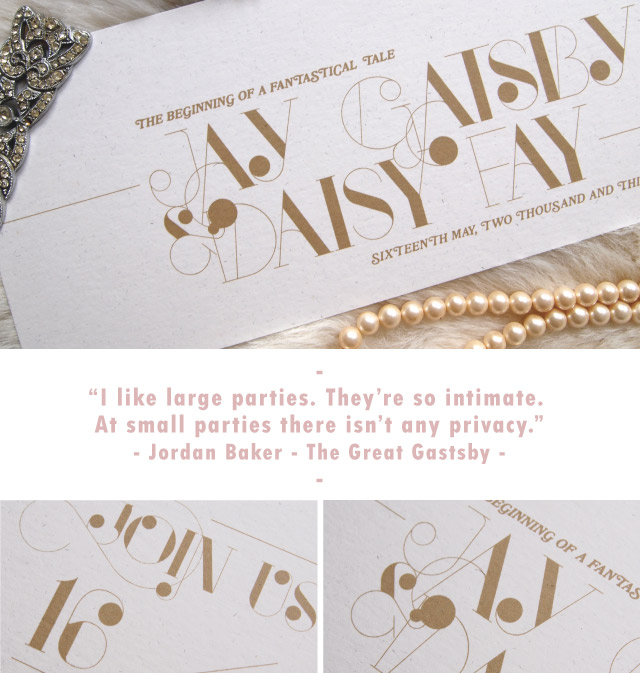 Great Gatsby invite - Alfies Studio