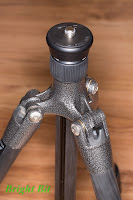 Gitzo GT1544T tripod with full center column, top view