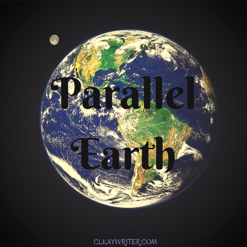 clkaywriter.com C. L. Kay Parallel Earth Graphic Earth And Moon From Space