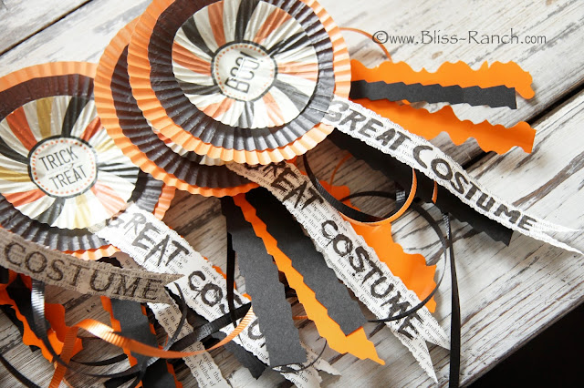 Cupcake Liner Halloween Award Ribbons